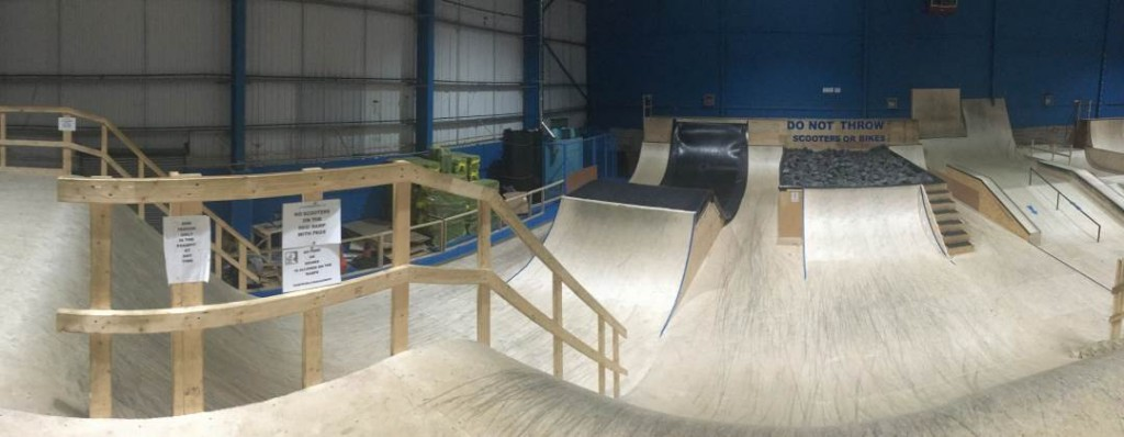 RampWorld Cardiff Performance Area. Including foam pit and resi ramp.